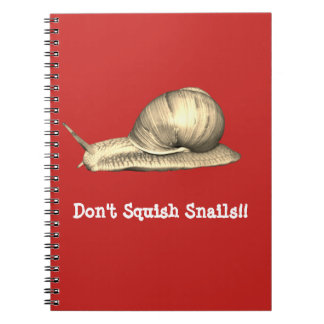 Red Don't Squish Snails Design Notebook