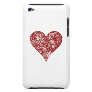 Red Doodle Heart Case-Mate iPod Touch Case