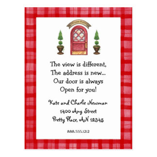 Red Door New Address Postcard