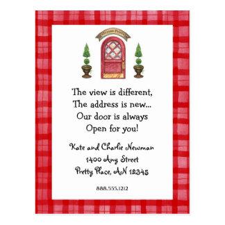 Red Door New Address Postcard