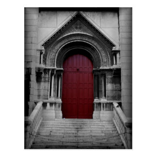 Red Door Postcard