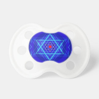 Red dot and the bluish Jewish Stars. Pacifiers