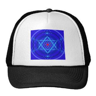 Red dot and the bluish Jewish Stars Hat