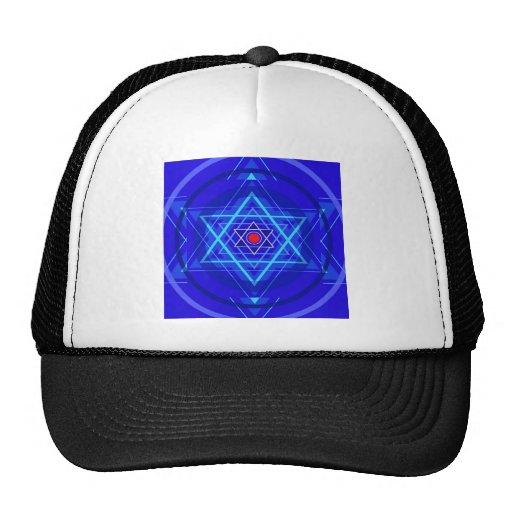 Red dot and the bluish Jewish Stars. Hat