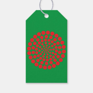 RED DOT PRINT. CUSTOMIZABLE BACKGROUND COLOUR. GIFT TAGS