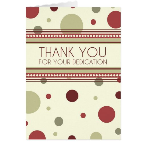 Red Dots Administrative Professionals Day Card