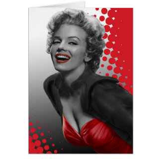 Red Dots Marilyn Card
