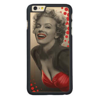 Red Dots Marilyn Carved Maple iPhone 6 Plus Case