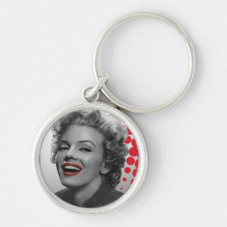 Red Dots Marilyn Key Ring