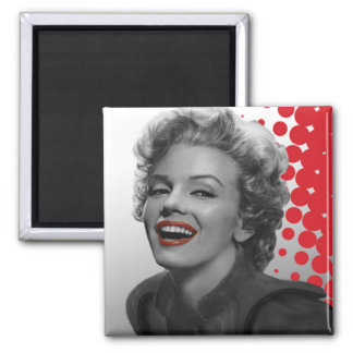 Red Dots Marilyn Magnet