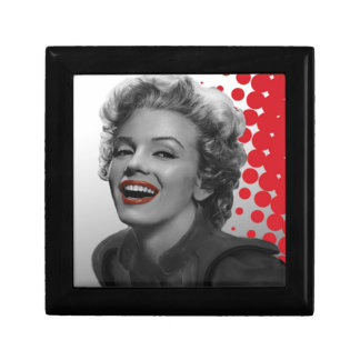 Red Dots Marilyn Small Square Gift Box