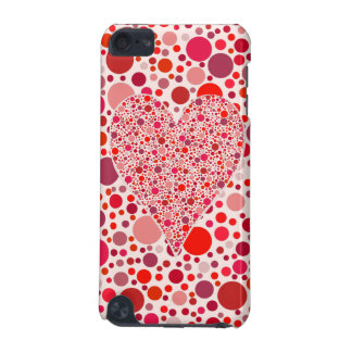 Red dots mosaic Heart Shape pink polka dots iPod Touch 5G Cover