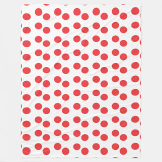 red dots pattern blanket large