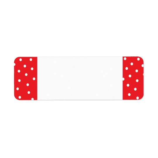 Red Dotted Address Labels