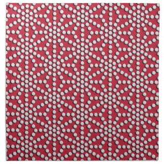 Red dotted Kamishimo japanese pattern Napkin