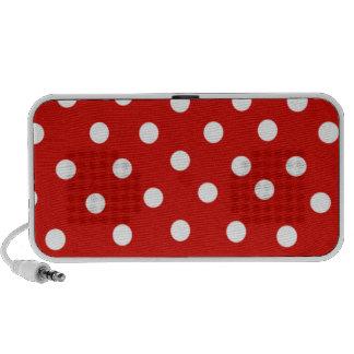Red dotting travelling speaker