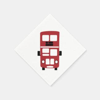 Red double decker bus Cocktail Napkin Paper Napkin