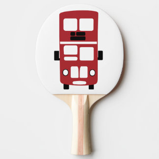 Red double decker bus ping pong paddle