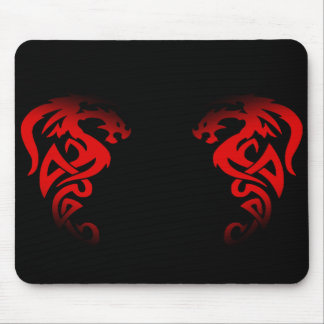 red double dragon mouse pad