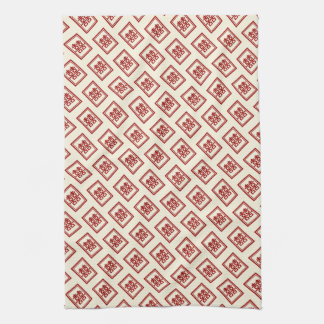 Red Double Happiness Chinese Wedding Kitchen Towel