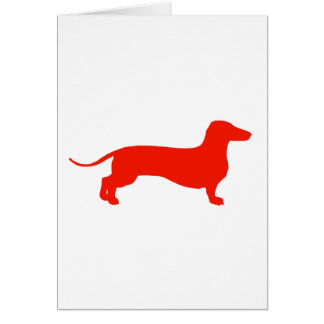 Red Doxie Card