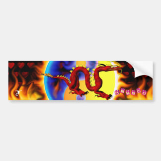 Red Dragon 1 with toy block names Bumper Sticker