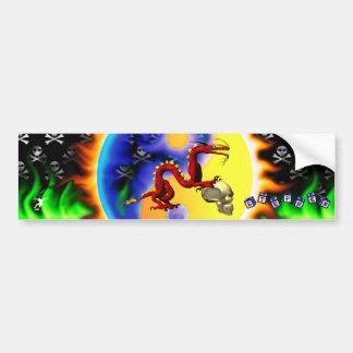 red dragon 2 with toy blocks bumper sticker