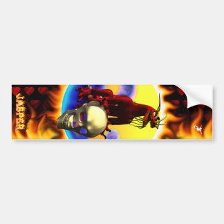Red Dragon 3 design with toy block names Bumper Sticker