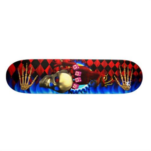 Red Dragon 3 design with toy block names Skate Decks