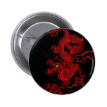 Red Dragon 6 Cm Round Badge
