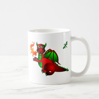 Red Dragon and Dragonfly Coffee Mug