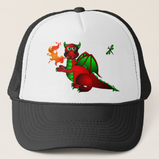 Red Dragon and Dragonfly Trucker Hat