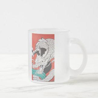 Red Dragon Arcylic painting by Matty B Frosted Glass Mug