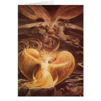 Red Dragon Art William Blake Greeting Card