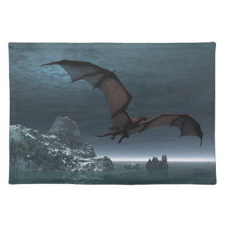 Red Dragon at Night Placemat