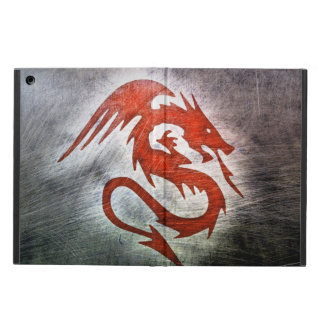 Red dragon black background case for iPad air