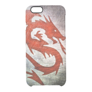 Red dragon black background clear iPhone 6/6S case