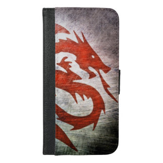 Red dragon black background iPhone 6/6s plus wallet case