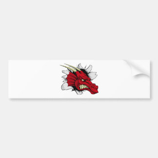 Red dragon breakthrough bumper sticker