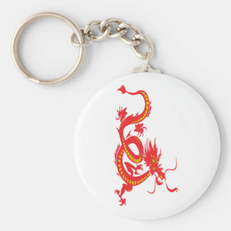 Red Dragon/Chinese New Year Basic Round Button Key Ring