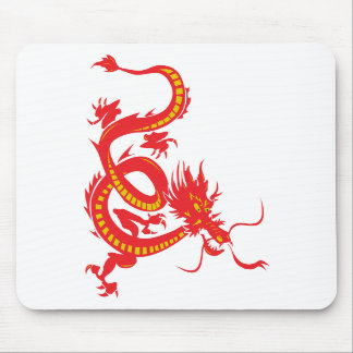 Red Dragon Chinese New Year Mousepad