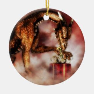 Red Dragon Christmas Ornament