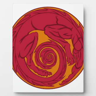 Red Dragon Circle Plaque
