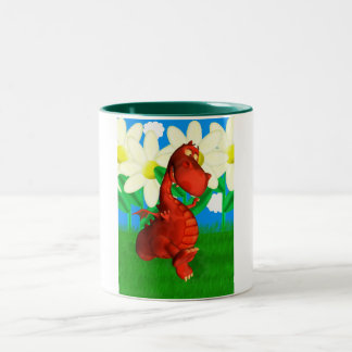 Red dragon dancing in the Garden Birthday Mug
