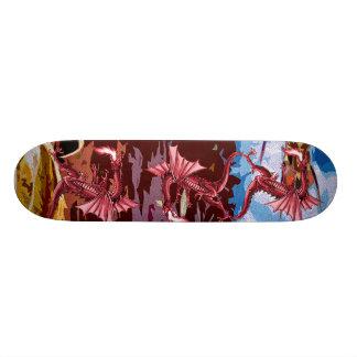 Red Dragon Fantasy Skate Board
