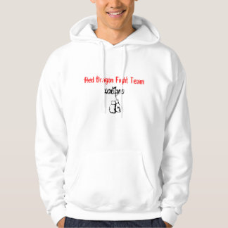 Red Dragon Fight Team Hoodie -Grey