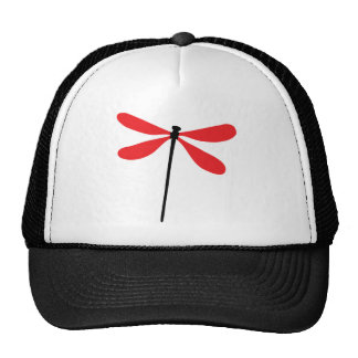red dragon fly mesh hat