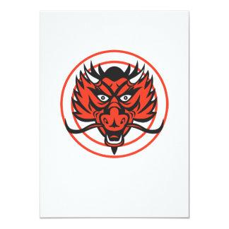 Red Dragon Head Circle Custom Invites