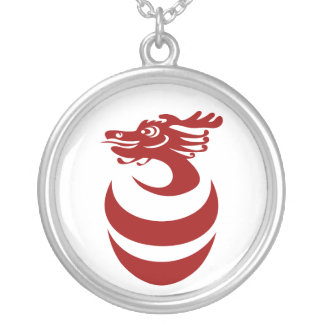 Red Dragon in Egg Necklace