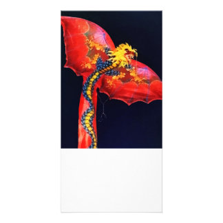 Red Dragon Kite Personalized Photo Card